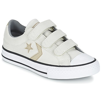 Cipők Fiú Rövid szárú edzőcipők Converse STAR PLAYER 3V TEXTILE OX Ekrü / Keki