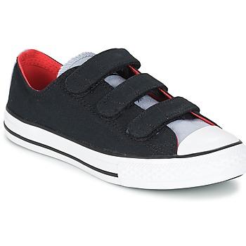 Cipők Fiú Rövid szárú edzőcipők Converse CHUCK TAYLOR ALL STAR 3V SPRING FUNDAMENTALS OX Fekete  / Kék / Fehér