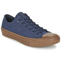 Shoes Férfi Rövid szárú edzőcipők Converse CHUCK TAYLOR ALL STAR II TENCEL CANVAS OX Tengerész / Barna
