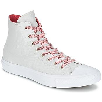Cipők Magas szárú edzőcipők Converse CHUCK TAYLOR ALL STAR II BASKETWEAVE FUSE HI Ekrü / Fehér / Piros