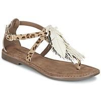 Shoes Női Szandálok / Saruk Metamorf'Ose ZABOUCHE Barna / Fehér