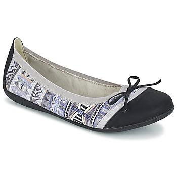 Cipők Női Balerina cipők / babák Les P'tites Bombes CAPRICE Szürke / Fekete