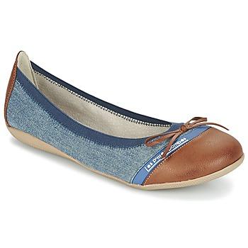 Shoes Női Balerina cipők / babák Les P'tites Bombes CAPRICE Kék / Teve