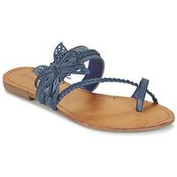 Shoes Női Lábujjközös papucsok Moony Mood ELIANA Kék