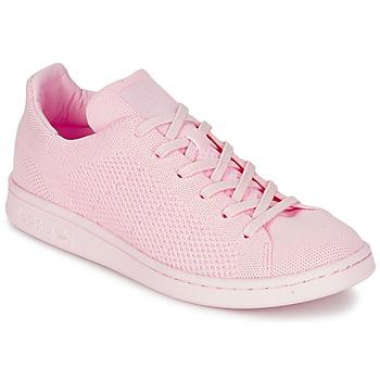 Shoes Női Rövid szárú edzőcipők adidas Originals STAN SMITH PK Rózsaszín