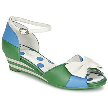 Cipők Női Szandálok / Saruk Lola Ramona LENNIE Kék / Zöld