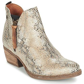 Cipők Női Csizmák Coqueterra LIZZY Bézs / Kígyó