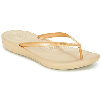 Cipők Női Lábujjközös papucsok FitFlop IQUSHION ERGONOMIC FLIP-FLOPS Arany
