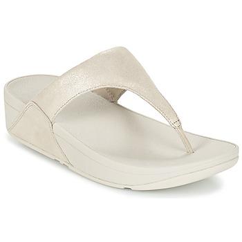 Cipők Női Lábujjközös papucsok FitFlop SHIMMY SUEDE TOE-POST Arany
