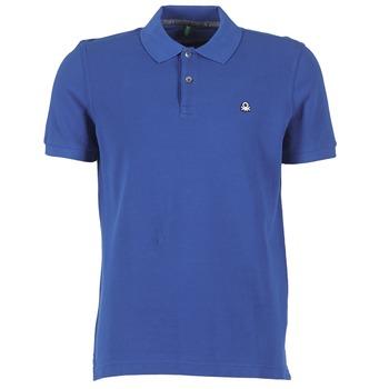 material Férfi Rövid ujjú galléros pólók Benetton FOBIKA Kék
