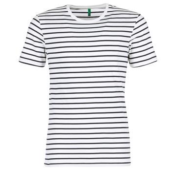 material Férfi Rövid ujjú pólók Benetton MAKOUL Kék / Fehér