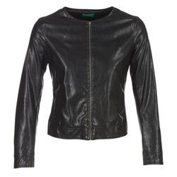 Ruhák Női Bőrkabátok / műbőr kabátok Benetton JANOURA Fekete