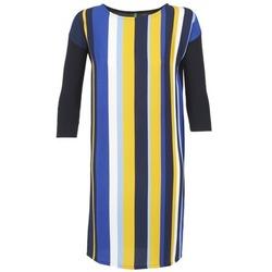 Ruhák Női Rövid ruhák Benetton VAGODA Kék / Citromsárga / Fehér