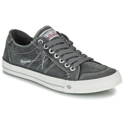 Cipők Férfi Rövid szárú edzőcipők Dockers by Gerli JOLEVE Szürke