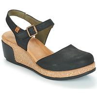 Cipők Női Szandálok / Saruk El Naturalista LEAVES Fekete