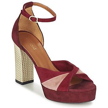 Cipők Női Szandálok / Saruk Heyraud EVELINE Piros / Rózsaszín / Arany