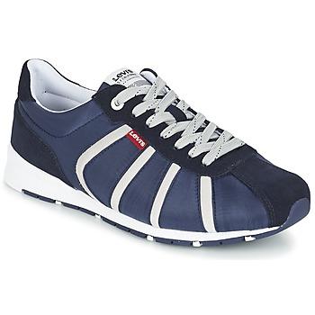 Shoes Férfi Rövid szárú edzőcipők Levi's ALMAYER II Tengerész / Fehér