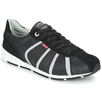 Cipők Férfi Rövid szárú edzőcipők Levi's ALMAYER II Fekete  / Fehér