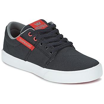 Cipők Gyerek Rövid szárú edzőcipők Supra KIDS STACKS II VULC Fekete  / Piros