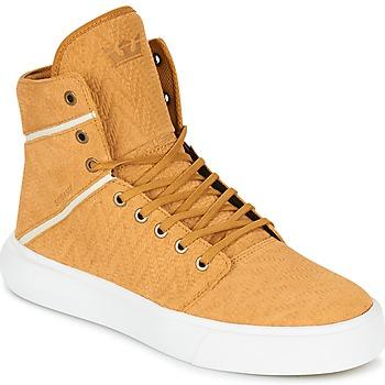 Cipők Férfi Magas szárú edzőcipők Supra CAMINO Citromsárga