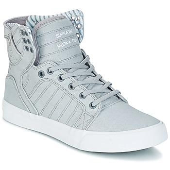 Shoes Magas szárú edzőcipők Supra SKYTOP Szürke