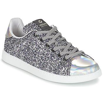 Cipők Női Rövid szárú edzőcipők Victoria DEPORTIVO BASKET GLITTER Ezüst
