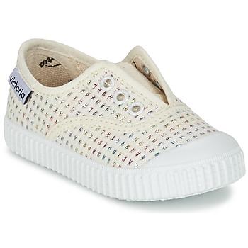Cipők Lány Rövid szárú edzőcipők Victoria INGLESA LUREX ELASTICO Bézs