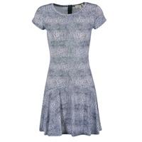 material Női Rövid ruhák MICHAEL Michael Kors ZEPHYR SS FLARE DRS Kék / Fehér