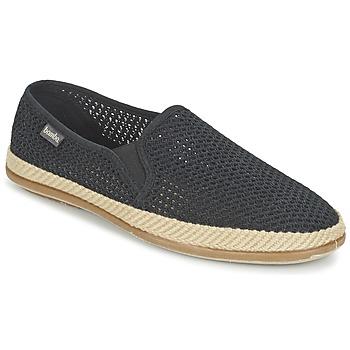 Cipők Férfi Gyékény talpú cipők Bamba By Victoria COPETE ELASTICO REJILLA TRENZA Fekete