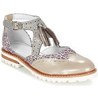 Cipők Női Oxford cipők Regard ROAXO Bézs / Ezüst