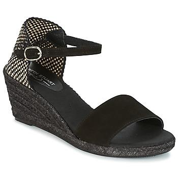 Shoes Női Gyékény talpú cipők Elizabeth Stuart TREVISE Fekete
