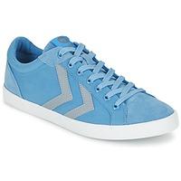 Cipők Rövid szárú edzőcipők Hummel DEUCE COURT SUMMER Kék / Szürke