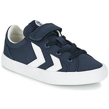 Cipők Gyerek Rövid szárú edzőcipők Hummel DEUCE COURT JR Kék