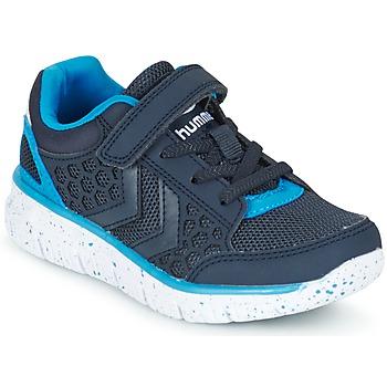 Shoes Gyerek Rövid szárú edzőcipők Hummel CROSSLITE JR Tengerész