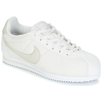 Shoes Lány Rövid szárú edzőcipők Nike CORTEZ LEATHER SE JUNIOR Bézs