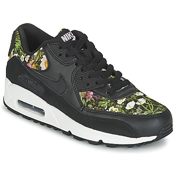 Shoes Női Rövid szárú edzőcipők Nike AIR MAX 90 SE W Fekete