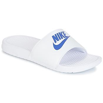 Shoes Férfi Papucsok Nike BENASSI JUST DO IT Fehér / Kék