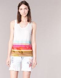 Ruhák Női Trikók / Ujjatlan pólók Desigual TEDERI Fehér / Sokszínű