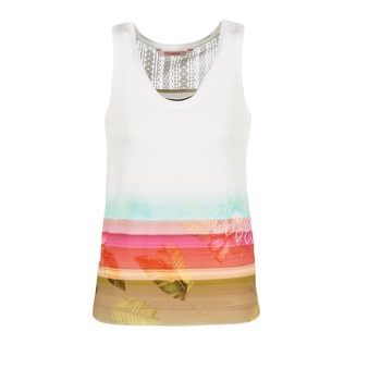 material Női Trikók / Ujjatlan pólók Desigual TEDERI Fehér / Sokszínű