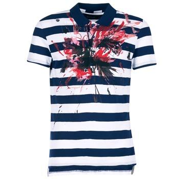 material Férfi Rövid ujjú galléros pólók Desigual RELIRA Fehér / Tengerész / Piros