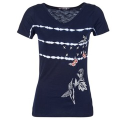 material Női Rövid ujjú pólók Desigual TIDEREA Tengerész