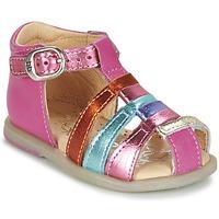 Shoes Lány Balerina cipők / babák Babybotte TIKALOU Rózsaszín / Sokszínű