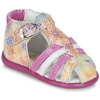 Shoes Lány Szandálok / Saruk Babybotte GUPPY Rózsaszín / Sokszínű