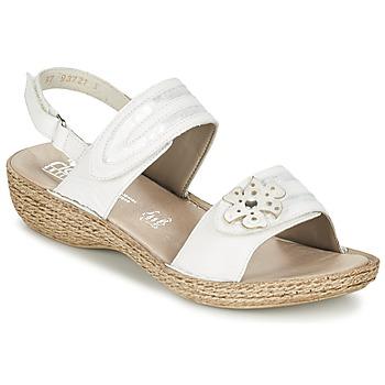 Shoes Női Szandálok / Saruk Rieker MIOLOI Fehér