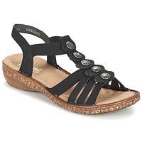 Shoes Női Szandálok / Saruk Rieker MECHAROLO Fekete