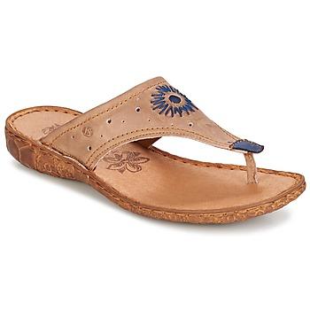 Cipők Női Lábujjközös papucsok Josef Seibel ROSALIE 01 Tópszínű