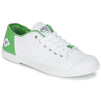Cipők Női Rövid szárú edzőcipők Le Temps des Cerises BASIC 02 Fehér / Zöld