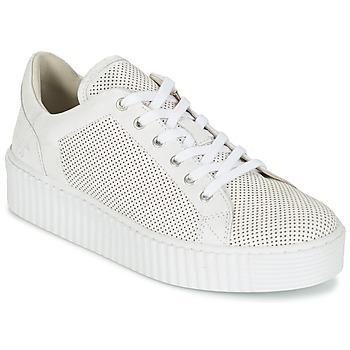 Cipők Női Rövid szárú edzőcipők Mustang FAMO Fehér / Tört