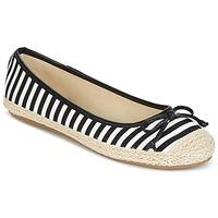 Cipők Női Balerina cipők / babák Wildflower Luck Fekete  / Fehér