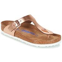 Cipők Női Lábujjközös papucsok Birkenstock GIZEH SFB Bronz